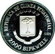2000 Bipkwele (Piedfort; reeded edge) – reverse
