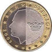 1 E (Sweden Euro Fantasy Token) – obverse