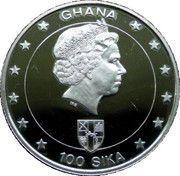 100 Sika  (Queen Elizabeth II-50th Anniversary of Coronation) – obverse