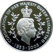 100 Sika  (Queen Elizabeth II-50th Anniversary of Coronation) – reverse