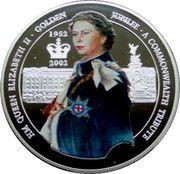 500 Sika - Elizabeth II (Queen Elizabeth II - Golden Jubilee) – reverse