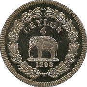 4 Rixdollar - George III (Ceylon) – reverse