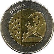2 (Ireland Euro Fantasy Token) – reverse