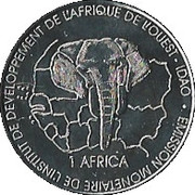 1500 Francs CFA / 1 Africa – reverse