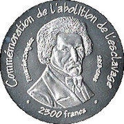 2500 Francs (Abolition of Slavery) – reverse