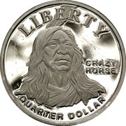 Quarter Dollar (Crazy Horse) – reverse