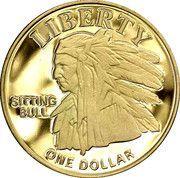 1 Dollar (Sitting Bull) – reverse