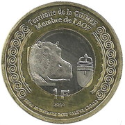 1 Franc (Guinee) – obverse