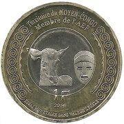 1 Franc (Moyen-Congo) – obverse