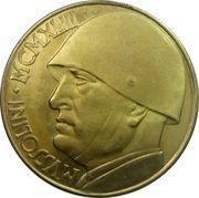 100 Lire (Mussolini Fantasy Medal) – reverse