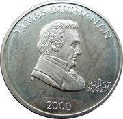 5 Dollars (James Buchanan) – reverse