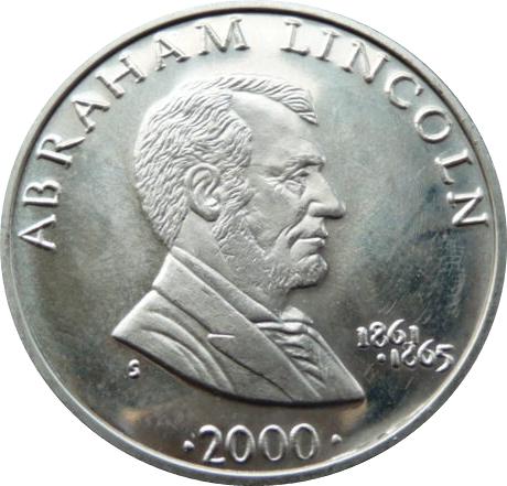 5 Dollars Abraham Lincoln Exonumia Numista
