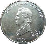 5 Dollars (Franklin Pierce) – reverse