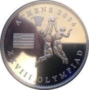 One Dollar (Athens Olympics) – obverse
