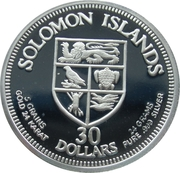 30 Dollars (Freedom and Self Government) – obverse