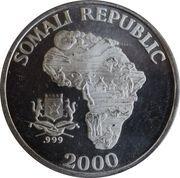 10 Dollars (The African Monkey - Chimpanzee) – obverse