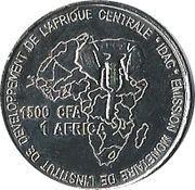 1500 Francs CFA / 1 Africa – reverse