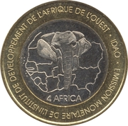 6000 Francs CFA / 4 Africa – reverse