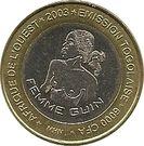 6000 Francs CFA / 4 Africa – obverse