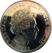 1 Crown - Elizabeth II (4th portrait) – obverse