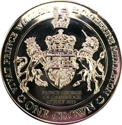 1 Crown - Elizabeth II (4th portrait) – reverse