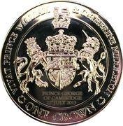 1 Crown - Elizabeth II (4th portrait) – reverse