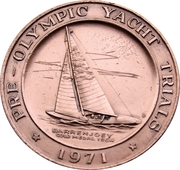 Pre Olympic Yacht Trials Medallion - 1971 – obverse