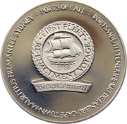 200th Anniversary Of The Sailing Of The First Fleet to Australia – obverse