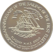 200th Anniversary Of The Sailing Of The First Fleet to Australia – reverse