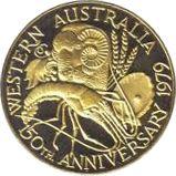 Western Australia 150th Anniversary 1979 – reverse