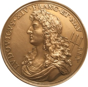 Re-establishment of the French naval forces - Louis VIV (modern restrike) – obverse
