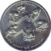 Centenary of Federation medallion – reverse