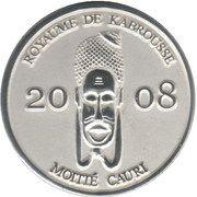 ½ Cauri (Royaume de Kabrousse) – obverse