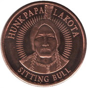 ½ Oz Copper (Lakota Tribe) – obverse