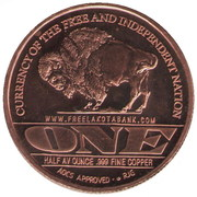 ½ Oz Copper (Lakota Tribe) – reverse