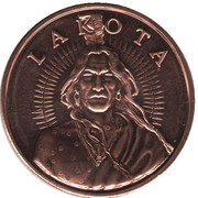 1 Oz Copper (Lakota Tribe) – obverse