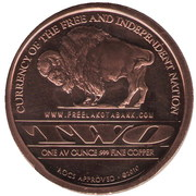 1 Oz Copper (Lakota Tribe) – reverse