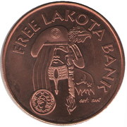1 Oz Copper (Lakota Bank) – obverse