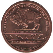 1 Oz Copper (Lakota Bank) – reverse
