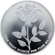 1 oz silver (English Rose) – obverse