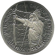 10 Cents (Cherokee tribe) – obverse