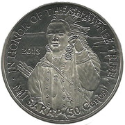 50 Cents (Shawnee tribe) – obverse