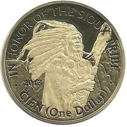 1 Dollar (Sioux tribe) – obverse