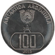 100 Pesos antárticos – obverse