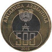 500 Pesos antárticos – obverse