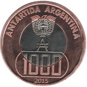 1000 Pesos antárticos – obverse