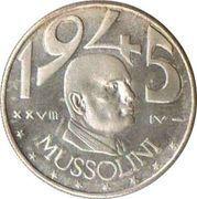 No Value Mussolini Fantasy Coin – reverse