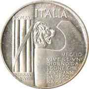 No Value Mussolini Fantasy Coin – obverse