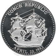 1 Conch Dollar – obverse