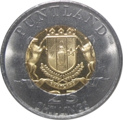 25 Shillings (Iberian lynx) – obverse